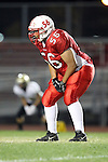 Lawndale, CA 10/01/10 - Brandon Lee (Lawndale #56) in action during the Peninsula-Lawndale Varsity football game.