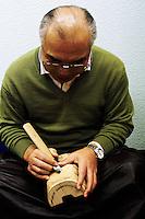 Iijima Joun carving (Obeshimi?) mask.