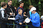 2010 Ryder Cup at the Celtic Manor twenty ten course, Newport Wales, 28/9/2010.Rory McIlroy signs autographs as he comes off the 10th green..Picture Fran Caffrey/www.golffile.ie.