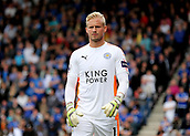 30th September 2017, Vitality Stadium, Bournemouth, England; EPL Premier League football, Bournemouth versus Leicester; Leicester Goalkeeper Kasper Schmeichel prepares to take a goal kick
