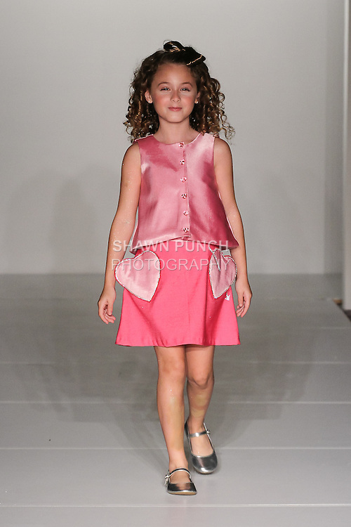 """Designer and model Sabrina Maria Feliciano walks runway during her """"From Sabrina With Love"""" collection fashion show, at Fashion Gallery New York Fashion Week Spring Summer 2017 on September 10, 2016"""