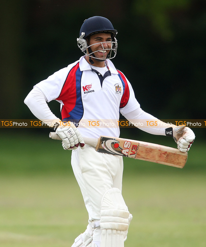 Sam Samarasekera of Hornchurch Athletic - Hornchurch Athletic CC vs Galleywood CC, Essex Club Cricket at Hylands Park, Hornchurch - 18/05/13 - MANDATORY CREDIT: Rob Newell/TGSPHOTO - Self billing applies where appropriate - 0845 094 6026 - contact@tgsphoto.co.uk - NO UNPAID USE.