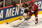 Billy Exell (UMD - 16), John Marino (Harvard - 12) - The University of Minnesota Duluth Bulldogs defeated the Harvard University Crimson 2-1 in their Frozen Four semi-final on April 6, 2017, at the United Center in Chicago, Illinois.