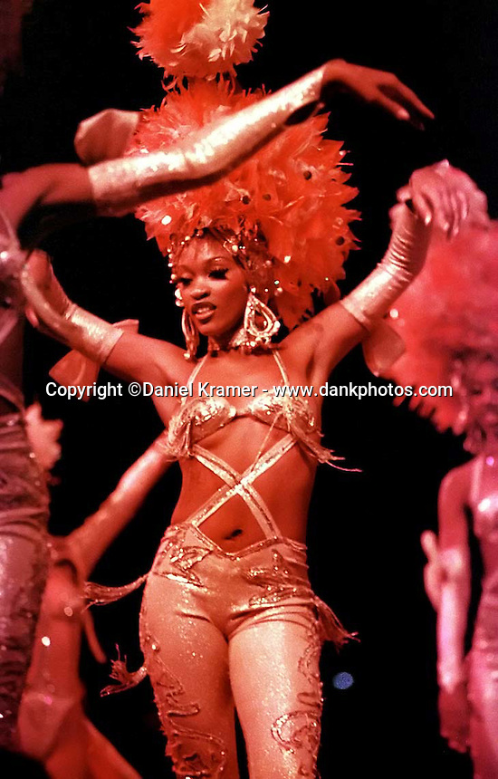 Taimy Filiu Zayas, 19, has been dancing at the Tropicana nightclub in Havana for two years. (2000)