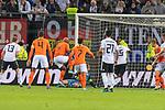 06.09.2019, Volksparkstadion, HAMBURG, GER, EMQ, Deutschland (GER) vs Niederlande (NED)<br /> <br /> DFB REGULATIONS PROHIBIT ANY USE OF PHOTOGRAPHS AS IMAGE SEQUENCES AND/OR QUASI-VIDEO.<br /> <br /> im Bild / picture shows<br /> <br /> 1:2 durch Ryan BABEL (Niederlande / NED #09) gegen Manuel Neuer (Deutschland / GER #01)<br /> Lukas Klostermann (Deutschland / GER #13)<br /> Virgil VAN DIJK (Niederlande / NED #04)<br /> Steven BERGWIJN (Niederlande / NED #07)<br /> #gr21<br /> <br /> <br /> während EM Qualifikations-Spiel Deutschland gegen Niederlande  in Hamburg am 07.09.2019, <br /> <br /> Foto © nordphoto / Kokenge