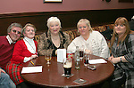 William Mahony, Mary Mahony, Carol Ann Devoy, Eileen Sheridan and Sharon Lahiff at the Table Quiz in Foleys...Photo NEWSFILE/Jenny Matthews.(Photo credit should read Jenny Matthews/NEWSFILE)....This Picture has been sent you under the condtions enclosed by:.Newsfile Ltd..The Studio,.Millmount Abbey,.Drogheda,.Co Meath..Ireland..Tel: +353(0)41-9871240.Fax: +353(0)41-9871260.GSM: +353(0)86-2500958.email: pictures@newsfile.ie.www.newsfile.ie.FTP: 193.120.102.198.