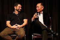 LOS ANGELES - NOV 9: Matt Zarley, George Takei at the special screening of Matt Zarley's 'hopefulROMANTIC' at the American Film Institute on November 9, 2014 in Los Angeles, California
