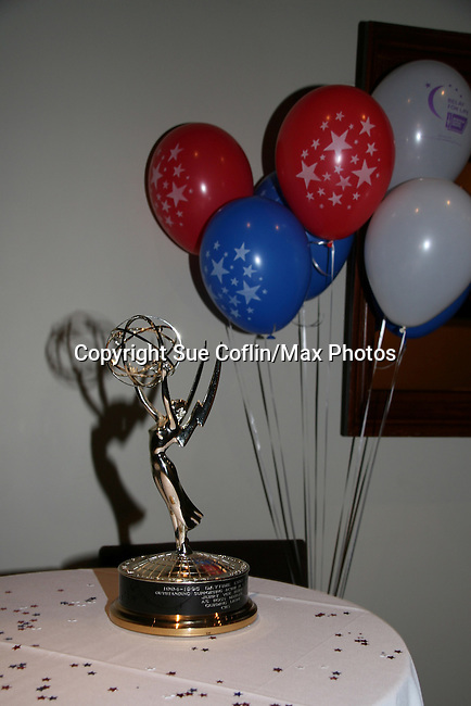 Jerry VerDorn's Emmy at the 2009 Daytime Stars and Strikes to benefit the American Cancer Society to benefit the American Cancer Society on October 11, 2009 at the Port Authority Leisure Lanes, New York City, New York. (Photo by Sue Coflin/Max Photos)