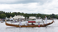 Henley on Thames. United Kingdom.  Messing about on the River, Gondola,     Thursday,  30/06/2016,      2016 Henley Royal Regatta, Henley Reach.   [Mandatory Credit Peter Spurrier/Intersport Images]