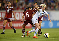 Jacksonville, FL - Thursday April 5, 2018: Karla Nieto, Megan Rapinoe during an International friendly match versus the women's National teams of the United States (USA) and Mexico (MEX) at EverBank Field.
