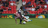 Stoke City's James McClean and Queens Park Rangers' Bright Osayi-Samuel <br /> <br /> Photographer Stephen White/CameraSport<br /> <br /> The EFL Sky Bet Championship - Stoke City v Queens Park Rangers - Saturday 3rd August 2019 - bet365 Stadium - Stoke-on-Trent<br /> <br /> World Copyright © 2019 CameraSport. All rights reserved. 43 Linden Ave. Countesthorpe. Leicester. England. LE8 5PG - Tel: +44 (0) 116 277 4147 - admin@camerasport.com - www.camerasport.com