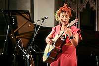 Carmen Souza, Portugese artist of Cape Verdean family origins, sings in her Creole dialect, Petworth Festival, West Sussex.
