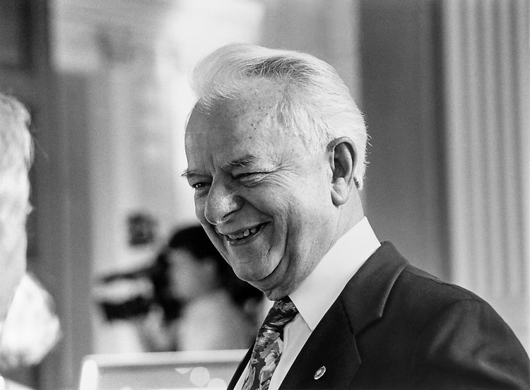 "Sen. Robert Carlyle ""Bob"" Byrd, D-W.Va. Febuary 10, 1992 (Photo by Maureen Keating/CQ Roll Call)"