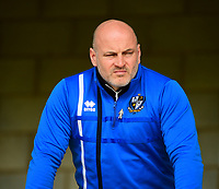 Port Vale's first team coach Gary Brabin during the pre-match warm-up<br /> <br /> Photographer Andrew Vaughan/CameraSport<br /> <br /> The EFL Sky Bet League Two - Port Vale v Lincoln City - Saturday 14th April 2018 - Vale Park - Burslem<br /> <br /> World Copyright &copy; 2018 CameraSport. All rights reserved. 43 Linden Ave. Countesthorpe. Leicester. England. LE8 5PG - Tel: +44 (0) 116 277 4147 - admin@camerasport.com - www.camerasport.com