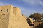 Israel, Sharon region, the walls and moat of old Caesarea