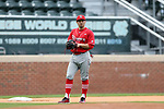 CHAPEL HILL, NC - FEBRUARY 21: Saint John's John Valente. The University of North Carolina Tar heels hosted the Saint John's University Red Storm on February 21, 2018, at Boshamer Stadium in Chapel Hill, NC in a Division I College Baseball game. St John's won the game 5-2.