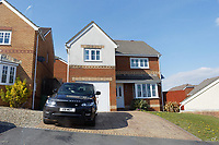 Pictured: The family home in Hengoed, south Wales, UK. Saturday 13 April 2019<br /> Re: A 13-year-old boy, named lofcally as Carson Price, has died after being found unconscious in Ystrad Mynach Park, Caerphilly County, at about 7.20pm on Friday 12 April.<br /> The teen was taken to University Hospital of Wales in Cardiff where he was pronounced dead.
