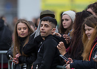 DAPPY with fans during the SOCCER SIX Celebrity Football Event at the Queen Elizabeth Olympic Park, London, England on 26 March 2016. Photo by Andy Rowland.