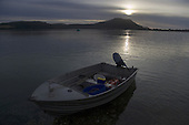 Cloudy sunrise over Mt Camel at the mouth of the Houhora Harbour.