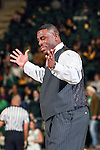 North Texas Mean Green head coach, Tony Benford, in action during the game between the Lehigh Mountain Hawks and the North Texas Mean Green at the Super Pit arena in Denton, Texas. Lehigh defeats UNT 90 to 75...