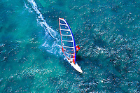 Windsurfer at Kanaha beach on Maui