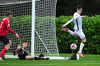Liam Cullen of Swansea City u23s' has a shot during the Premier League 2 Division Two match between Swansea City u23s and Middlesbrough u23s at Swansea City AFC Training Academy  in Swansea, Wales, UK. Monday 13 January 2020.