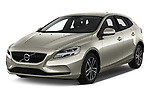 2017 Volvo V40 Momentum 5 Door Hatchback Angular Front stock photos of front three quarter view