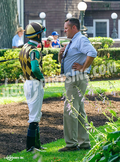 Leafy Shade before The Christiana Stakes at Delaware Park on 7/6/16
