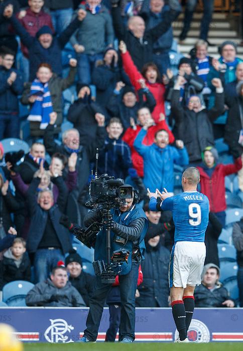 Kenny Miller celebrates his winner into the TV steadicam