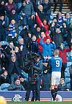 Kenny Miller celebrates his winner into the TV steadicam
