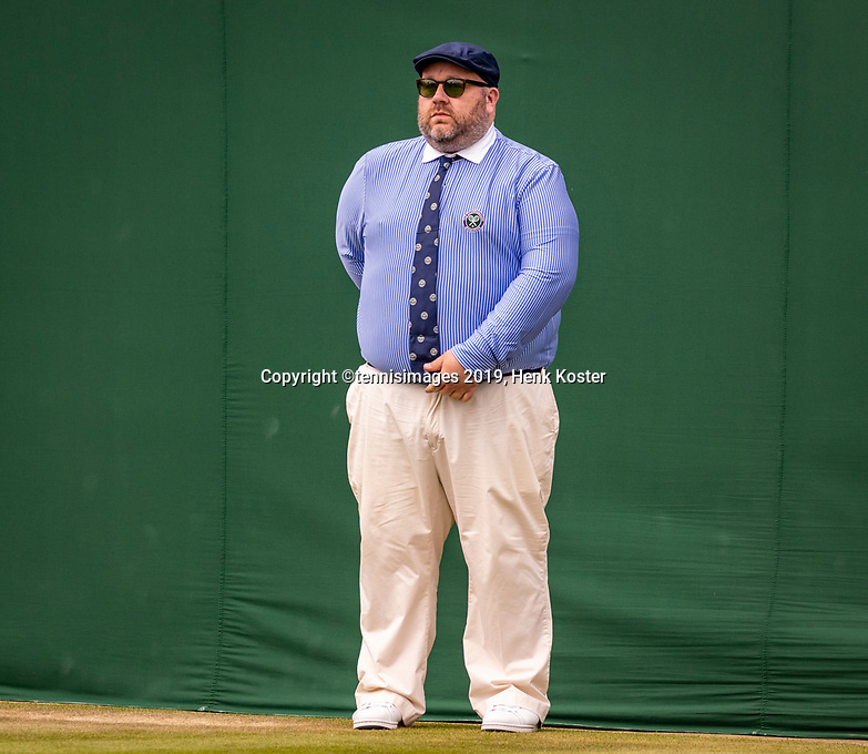 London, England, 3 July, 2019, Tennis,  Wimbledon, Linesman<br /> Photo: Henk Koster/tennisimages.com