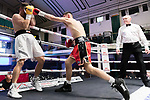 Mitchell Preedy vs Iain Jackson 4x3 - Super Middleweight Contest During Goodwin Boxing - Date With Destiny. Photo by: Simon Downing.<br /> <br /> Saturday September 23rd 2017 - York Hall, Bethnal Green, London, United Kingdom.