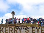 A large crowd once again put on their hiking boots to climb Cnoc na dTobar for the annual pilgrimage to the top of the mountain with mass said at the Cannons Cross.