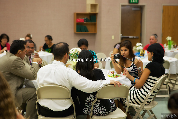 Kaneohe Stake Young Women recognition dinner for YW and their families and the leaders including Bishops.