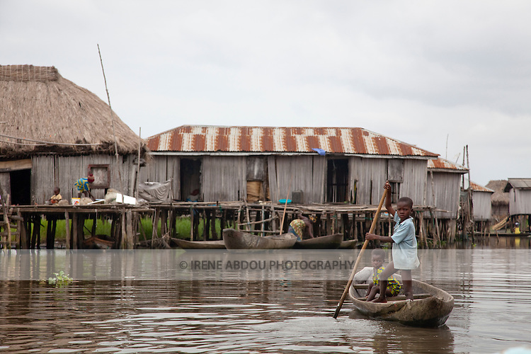 "Ganvie, Benin, with some 3,000 stilted buildings and a population of 20,000-30,000 people, may be the largest ""lake vllage"" in Africa.  In Ganvie, the population lives exclusively from fishing, building houses on stilts in and next to Lake Nokoue.  Because the Dan-Homey religion prohibited attacks on communities living in the water, the village of Ganvie dates back to the 16th or 17th century, when it was built to protect people from slavery."