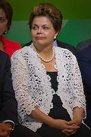 RIO DE JANEIRO, RJ, 13 DE FEVEREIRO DE 2012 - Cerimônia de Posse da nova Presidente da Petrobrás  - A Presidente Dilma Roussef se emociona durante o discurso da nova Presidente da Petrobras, Graça Foster, na cerimônia de tomada de posse, na sede da Petrobras.<br /> FOTO GLAICON EMRICH - NEWS FR