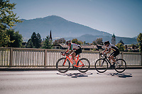 Lara Stehli (SUI) &amp; Katharina Hechler (DEU)<br /> <br /> WOMEN JUNIOR ROAD RACE<br /> Rattenberg to Innsbruck: 71.7 km<br /> <br /> UCI 2018 Road World Championships<br /> Innsbruck - Tirol / Austria