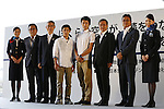 Kenzo Shirai, Ryosuke Irie, <br /> AUGUST 25, 2013 - <br /> Bid partner airlines, All Nippon Airway (ANA) and Japan Airlines (JAL) staff and families teamed up to form a &quot;Good Luck to ALL&quot; for the Event to promote the city's bid to host the 2020 Olympic Games at Haneda airport in Tokyo. <br /> This event, over 1,000 people throw their hats into the air, was held to aim for an entry in the Guinness Book of World Records.     <br /> (Photo by AFLO SPORT)