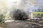 Steam train Arbatax, sign on for Stage 3 of the 100th edition of the Giro d'Italia 2017, running 148km from Tortoli to Cagliari, Sardinia, Italy. 7th May 2017.<br /> Picture: Eoin Clarke | Cyclefile<br /> <br /> <br /> All photos usage must carry mandatory copyright credit (&copy; Cyclefile | Eoin Clarke)