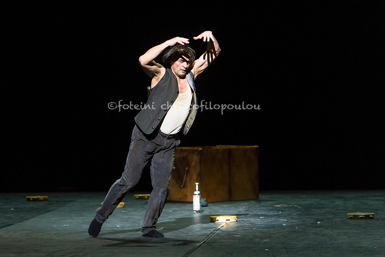 London, UK. 22.11.2017. 'Men in Motion' Ivan Putrov's celebration of the male dancer returns to the London Coliseum, 22-23 Nov 2017. Photo shows: Irek Mukhamedov in a new work by Arthur Pita. Photo - © Foteini Christofilopoulou.