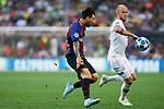 UEFA Champions League 2018/2019 - Matchday 1.<br /> FC Barcelona vs PSV Eindhoven: 4-0.<br /> Lionel Messi vs Jorrit Hendrix.