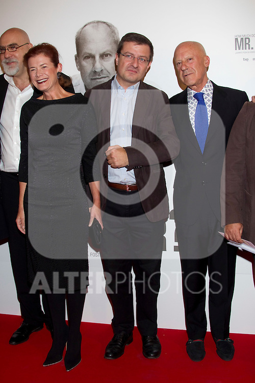 British architect Norman Foster and his wife Elena Ochoa  attend 'How Much Does Your Building Weigh, Mr. Foster?' premiere at the Verdi Cinema on October 5, 2010 in Madrid, Spain. ..Photo: Cesar Cebolla  / ALFAQUI