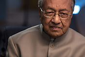 Tun Mahathir Mohamad, Malaysia's former prime minister during an interview in his office in the iconic Petronas Twin Towers in Kuala Lumpur, Malaysia, on Thursday, Feb. 25, 2016.