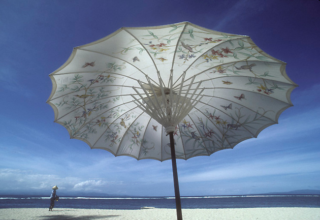 Umbrella on Bali beach