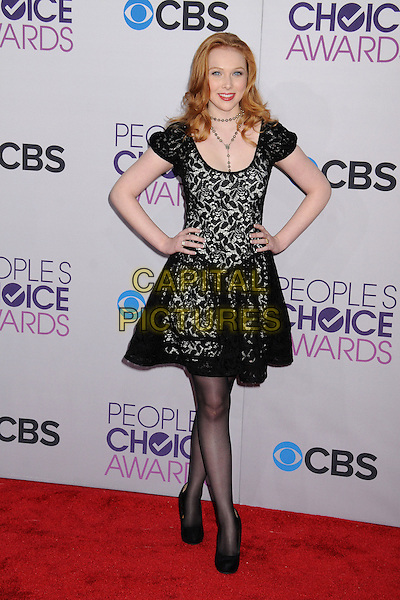 Molly Quinn.People's Choice Awards 2013 - Arrivals held at Nokia Theatre L.A. Live, Los Angeles, California, USA..January 9th, 2013.full length dress hands on hips black lace .CAP/ADM/BP.©Byron Purvis/AdMedia/Capital Pictures.