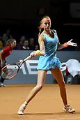 28th April 2017, Stuttgart, Germany; Porsche Tennis Grand Prix Stuttgart;  Kristina Miladenovice versus Carla Suarez Navarro
