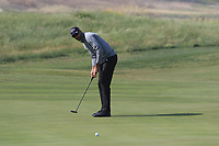 Alvaro Quiros (ESP) on the 12th green during Round 1 of the Rocco Forte Sicilian Open 2018 on Thursday 10th May 2018.<br /> Picture:  Thos Caffrey / www.golffile.ie<br /> <br /> All photo usage must carry mandatory copyright credit (&copy; Golffile | Thos Caffrey)