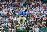 London, England, 7 th July, 2017, Tennis,  Wimbledon, Umpire Mohamed Lahyani<br /> Photo: Henk Koster/tennisimages.com