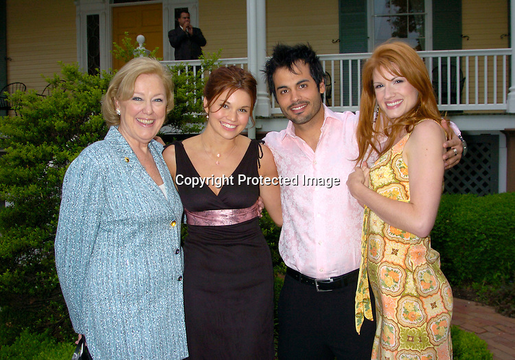 Dobbin, Mandy Bruno, Stephen Martines and Amanda ..at the Pre Daytime Emmy party at Gracie Mansion on..May 20, 2004
