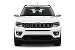 Car photography straight front view of a 2018 Jeep Compass Latitude 5 Door SUV